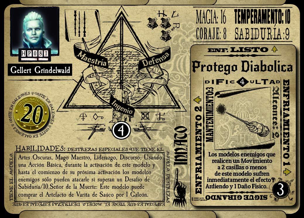 Knight Models Juego de Mesa Miniaturas Resina Harry Potter Mu/ñecos Gellert Grindelwald Espa/ñol