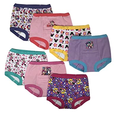 8f0d40767 Amazon.com: Disney Minnie Mouse Girls Potty Training Pants Panties  Underwear Toddler 7-Pack Size 2T 3T 4T: Clothing