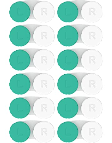 f7d1b238829 Contact Lens Cases 12 Pack. FDA Approved. 2018 Improved Design Quality.  Tweezers