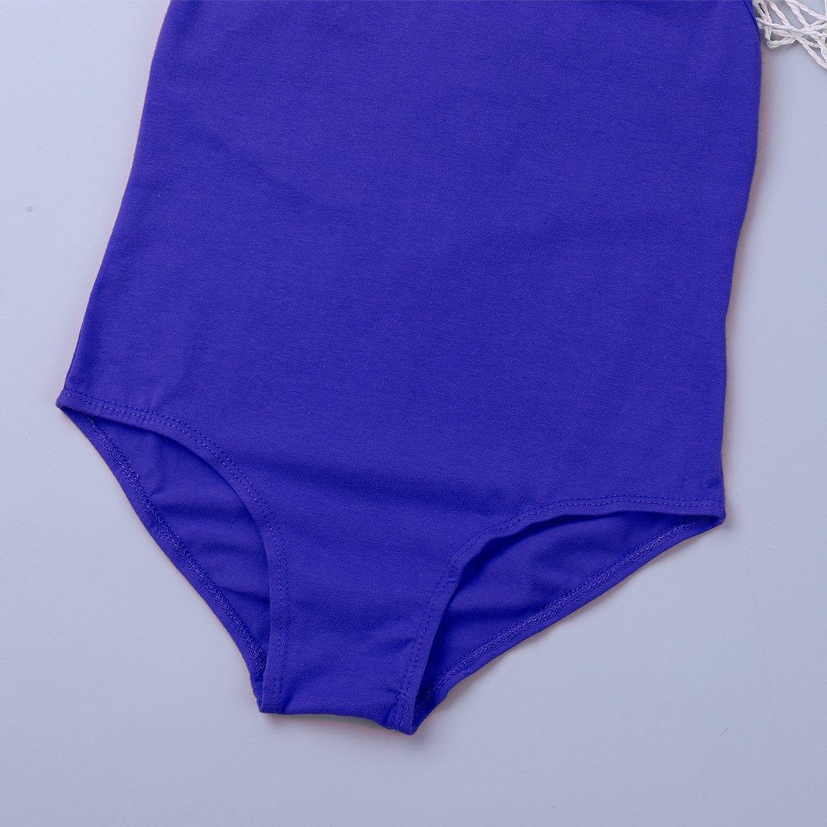 CHICTRY Big Girls Ballet Dancewear Leotard Gymnastics Sleeveless Turtleneck Bodysuit with Lace O-Back