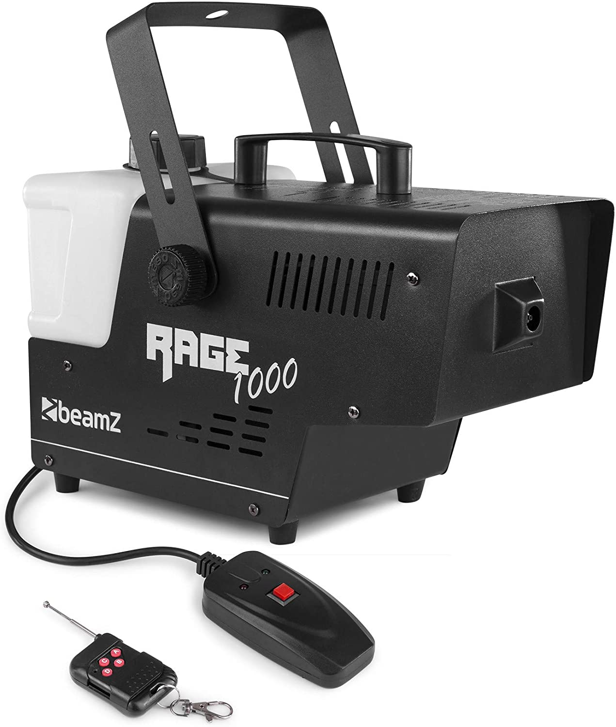 BeamZ Rage 1000 Smoke machine 2 L Negro, Blanco 1000 W - Máquina de humo (1000 W, 220-240 V, 50 Hz, 170 mm, 360 mm, 225 mm)