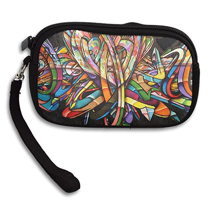 Jimres Graffiti Creator Womens Wristlet Bag With Zipper Small Wallet
