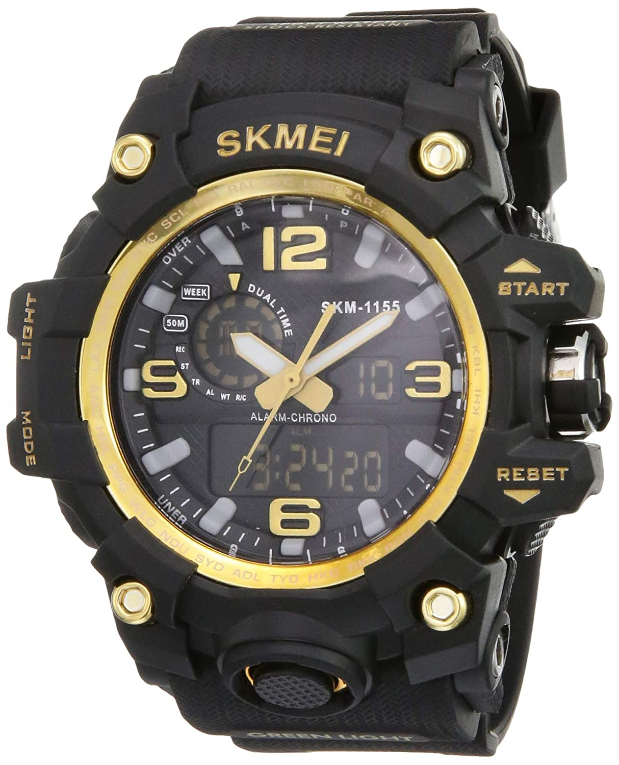 Buy Skmei Analogue Digital Men S Watch Black Dial At Amazon In