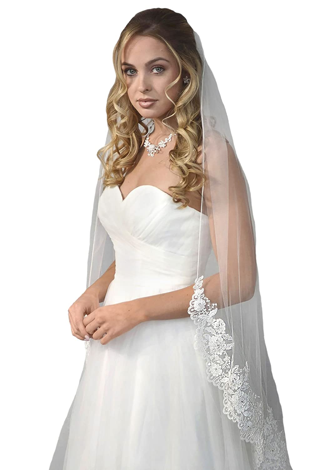 Passat Pale Ivory Single Tier 45embroidered Floral Silver Gold Lace
