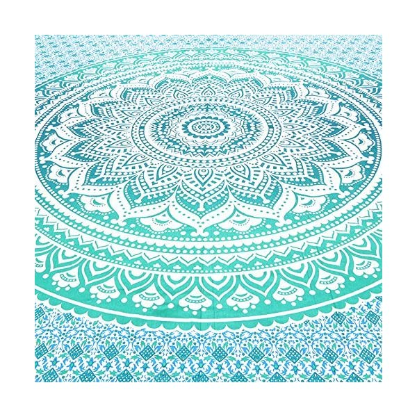 Aakriti Gallery Tapestry Regina Verde Ombre Hippie Arazzo Mandala Bohemian Psichedelico intricato Indiano copriletto 233… 4 spesavip