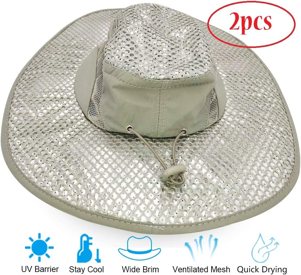 Fashion Hat Sunscreen Cooling Evaporative Hat Heatstroke Protection Cooling Cap Wide Brim Hat Anti UV Feature