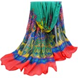 Multi Colour Bulgan Design Voile Shawl Scarf Wrap Pashmina (6 Colours) CJ Apparel NEW