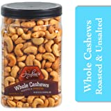 Jaybee's Unsalted Cashews Extra Large - Freshly Roasted - Great Healthy Snack or Gift Giving- Reusable Container…