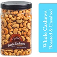 Jaybee's Unsalted Cashews Extra Large - Freshly Roasted - Great Healthy Snack or Gift Giving- Reusable Container - Certified Kosher - Vegan, Gluten-free, & Keto Friendly Snack (32 Ounces)