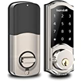 [2020 Newest] Smart Deadbolt Lock Front Door, Keyless Entry Door Lock with Keypads, Bluetooth Smart Locks Work with…