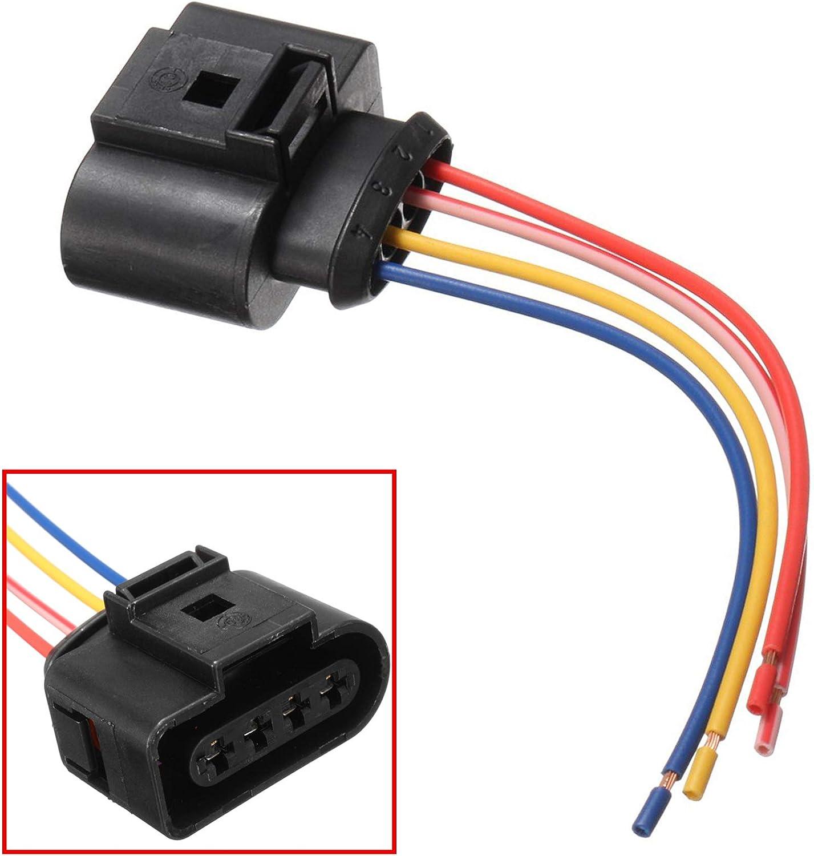 Kit R/éparation C/âble Faisceau de C/âblage Fiche /Électrique Prise de Connectique Connecteur Plug Adaptateur pour bobine dallumage 036905715 11731 11869 1J0973724 000979133E 4B0973724