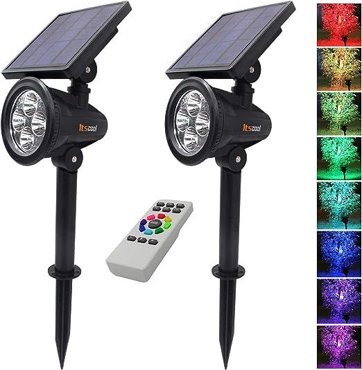 Foco Solar colores, Itscool LED Luz Solar Jardín 9 Colores con ...