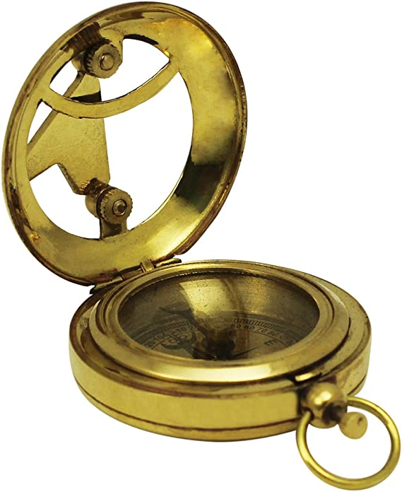 """Maritime Golden-Tone Vintage Look Replica Collectible With 3 Adjustable Legs Cyber Monday Deals#445545l Clearance Sale on 3/""""Brass Compass Nautical Device"""