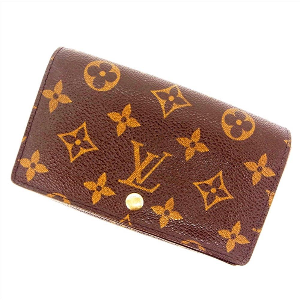 ルイヴィトン Louis Vuitton L字ファスナー財布 二つ折り ユニセックス ポルトモネビエトレゾール M61730 モノグラム 中古 C1081   B018JMST08