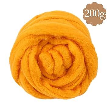 Soledi® Natural lana itinerantes Top Roving Cable de Spin manualidades de fieltro aguja fieltro 200
