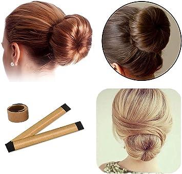 Lot De 2 Simples Fabricants De Chignon De Cheveux Femme Filles