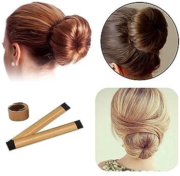 Amazon Com 2 Pack Simple Hair Bun Makers Women Girls Kids
