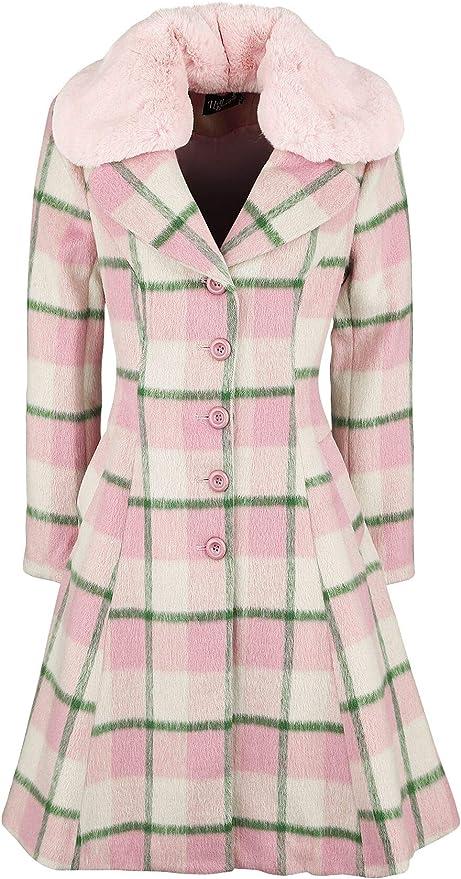 60s Dresses & 60s Style Dresses UK Hell Bunny Millicent Coat £153.99 AT vintagedancer.com