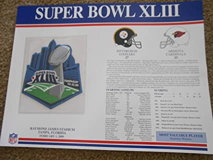 """Pittsburgh steelers super bowl xliii 43 champions 4"""" round patch."""