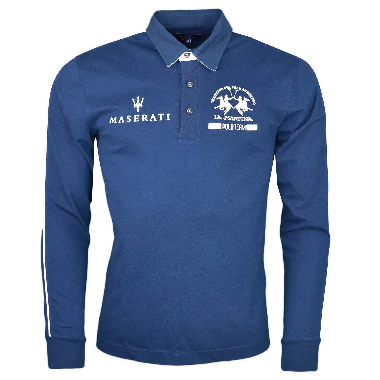 La Martina - Polo - Chaqueta - para Hombre Azul S: Amazon.es: Ropa ...
