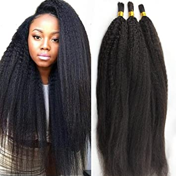 Amazon atina hair kinky straight bulk human hair for atina hair kinky straight bulk human hair for braiding brazilian virgin hair italian coarse yaki crochet pmusecretfo Gallery