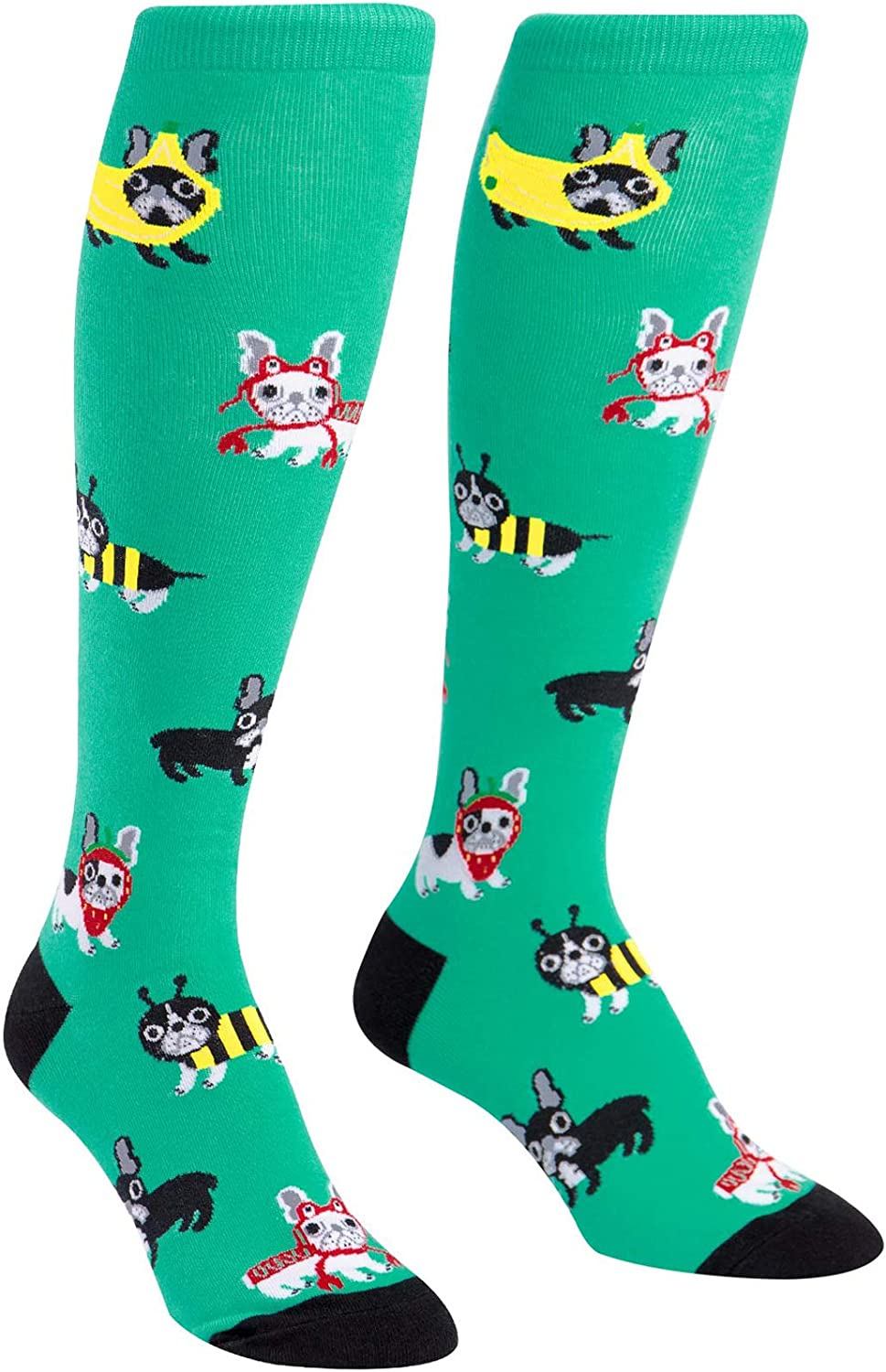Sock It To Me Women's Funky Knee High Socks Pet Lovers, Dogs Costume Party