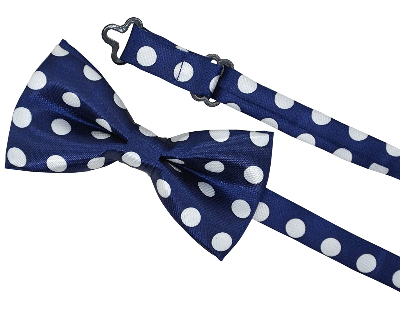 Blue Pre Bowtie for Kids CLJ01 SYAYA Boy Polka Dot Adjustable Bow Tie
