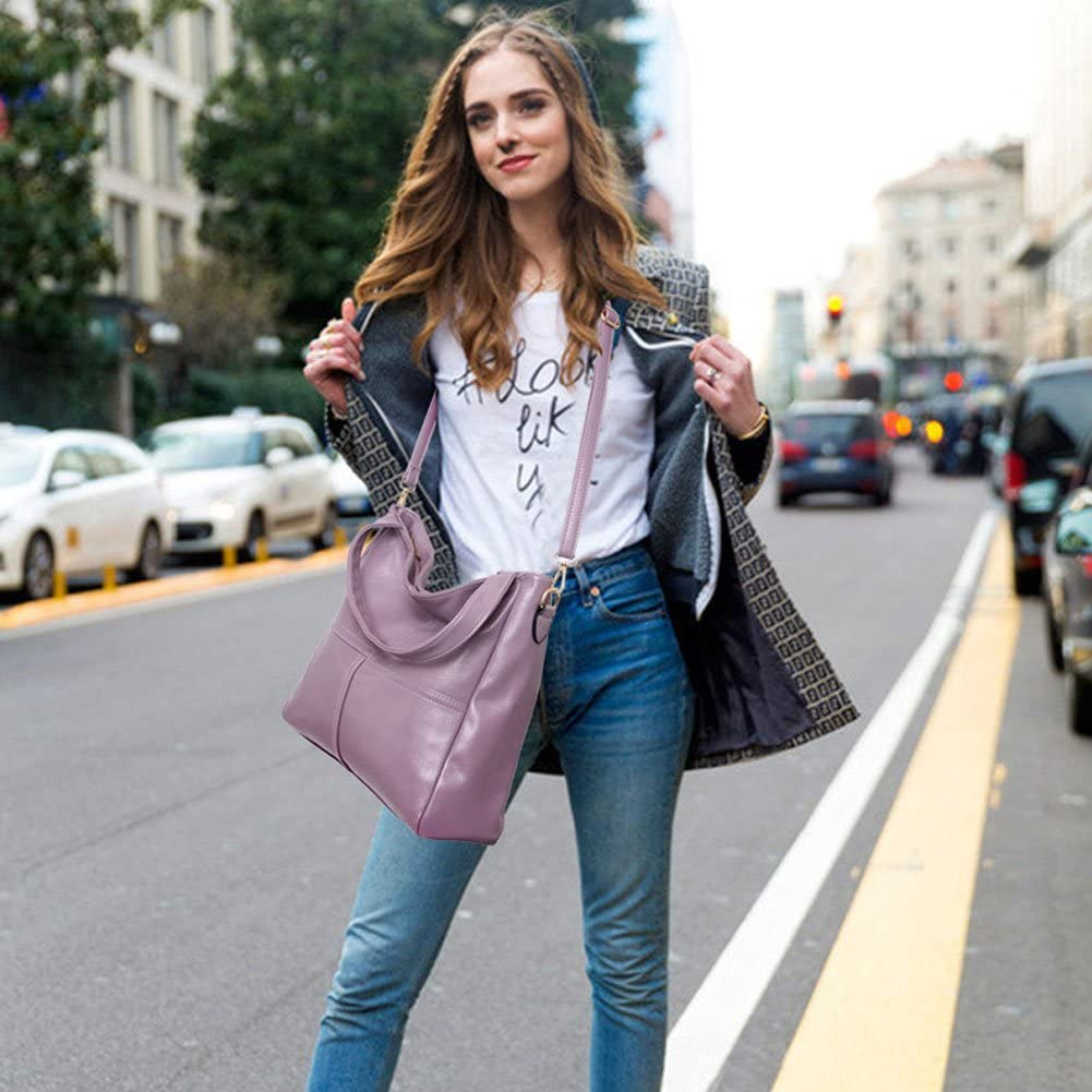 Voudi Leather Hobo Handbag Top Handle Shoulder Bag Tote Purse Crossbody Bag for Women