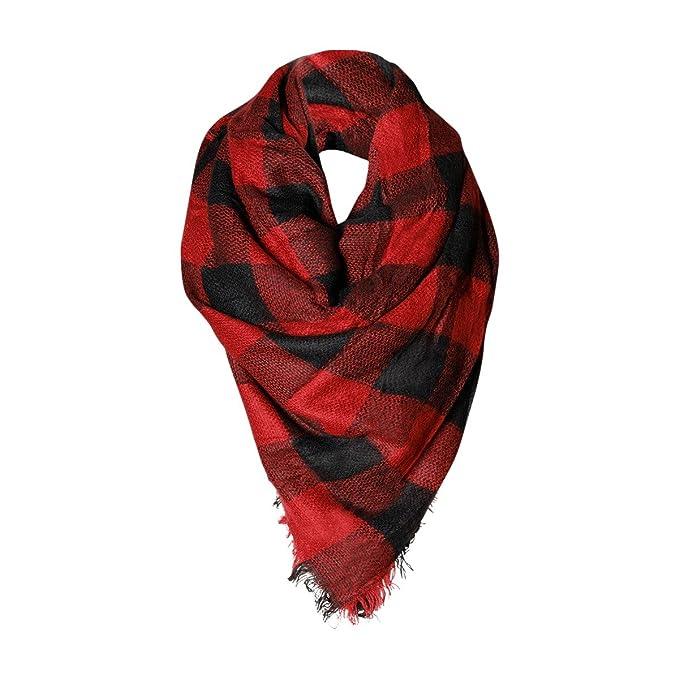 b339ee53adf64 Buffalo Check Womens Fashion Warm Winter Blanket Scarf FunkyMonkey ...