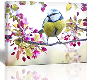 The Melody Art canvas print flyings spring bird home decoration for office bedroom living room wall decor 12x16 1 piece stretched and framed