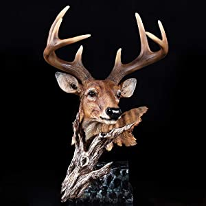 KIKIBEDYZ Statues Sculpture Figurines Statuettes,Deer Head Design Animal Figurines Art Modern Creative Statues Artwork for Home Garden Corridor Living Room Statuettes Ornaments Decor