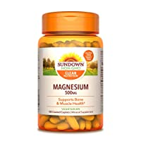 Sundown Magnesium, 500 mg (180 Coated Caplets) Mineral Supplement, Meets Daily Recommended...