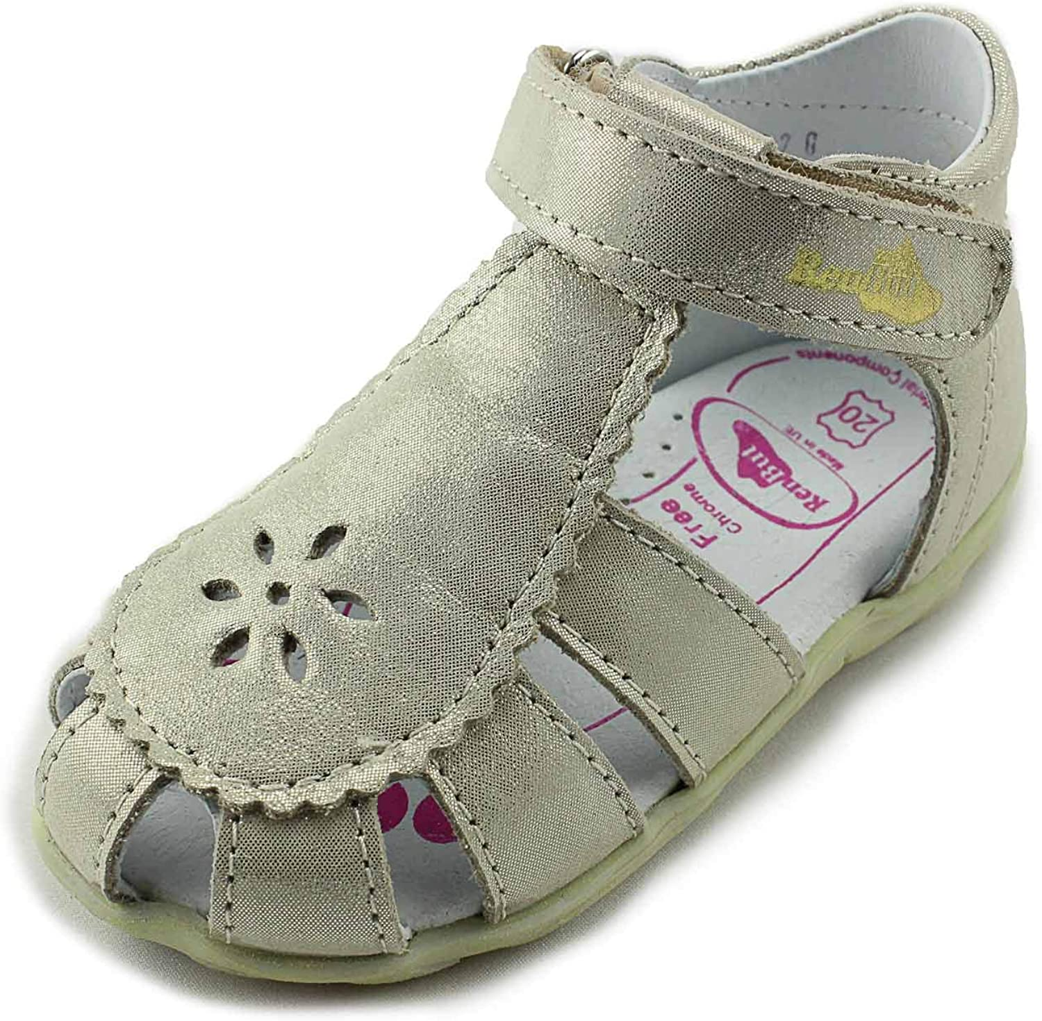 Infant//Toddler Ankle and Orthopedic Support 11-1477 Zloty RenBut Girls Closed Toe Leather Sandals with Arch