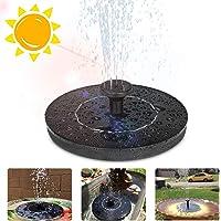 Eletorot Solar Fuente Bomba, 1.2 W Fuente Solar Flotador Jardin con 5 Boquillas Pequeño Estanque,Baño de Aves, Fish Tank,Decoración de Jardín
