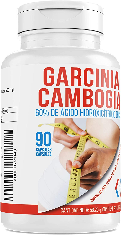Garcinia Cambogia para adelgazar y como supresor de apetito – Suplemento alimenticio con propiedades quema grasas para combinarlo con una dieta saludable y deporte - 90 cápsulas: Amazon.es: Salud y cuidado personal