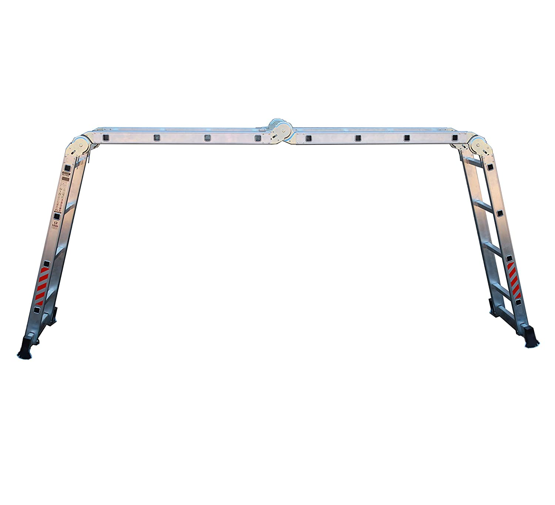 Nawa Escalera de aluminio Multiusos M/áx Multi-purpose Aluminium ladder Holds up to 150 kg Made in Europe 4x4 carga de capacidad de 150 kg conforme al est/ándar EN131 Hecho en Europa.