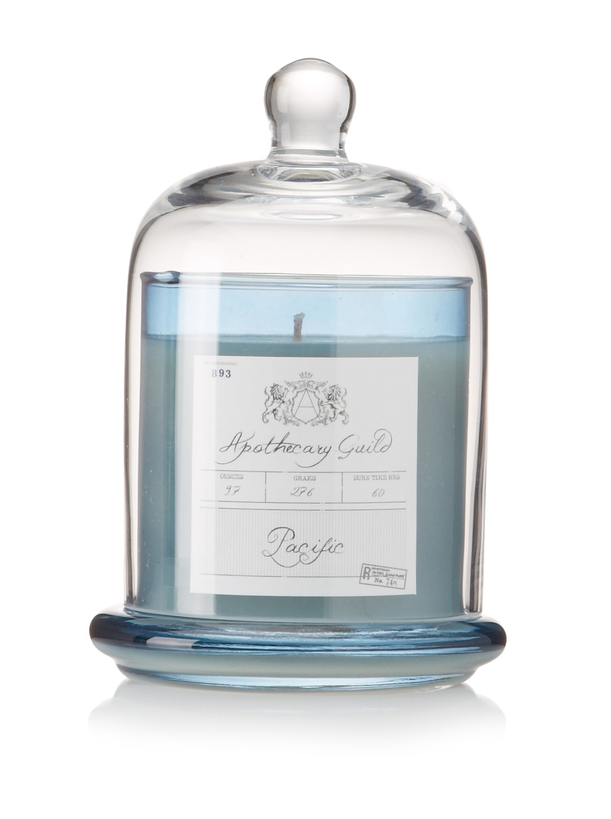 Apothecary Guild Candle Jar with Glass Dome, Pacific, Medium