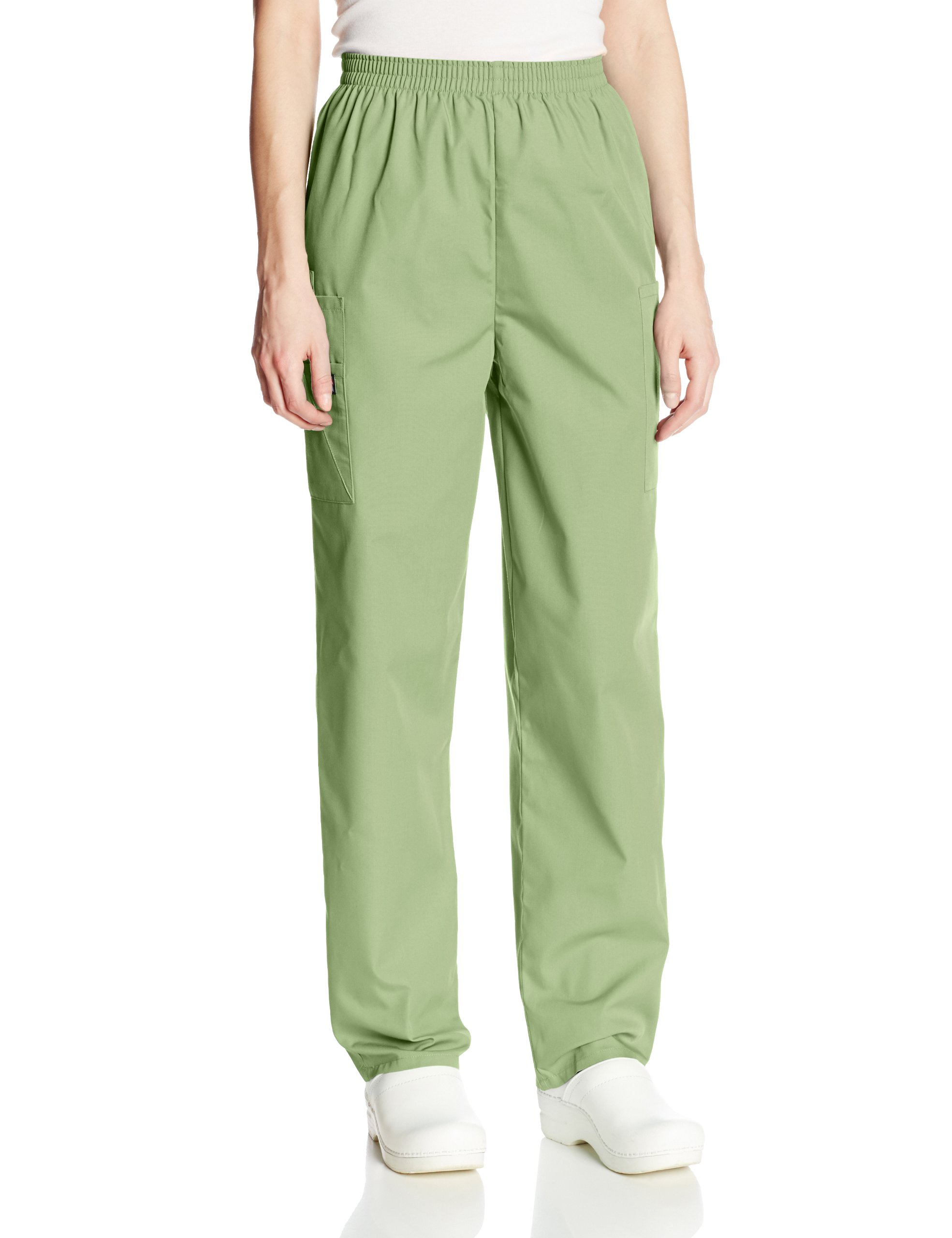Cherokee Women's Workwear Scrubs Pull-On Cargo Pant (SIZE 2X-5X), Sage Green, 4X-Large