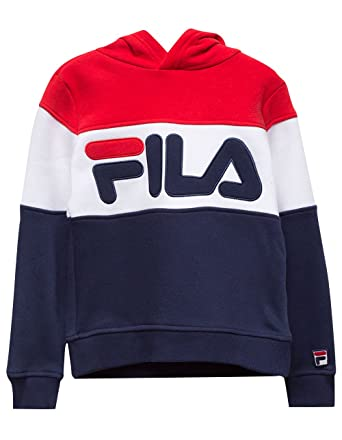 5be8e69a8f2 Fila Colorblock Red   Blue Girls Hoodie