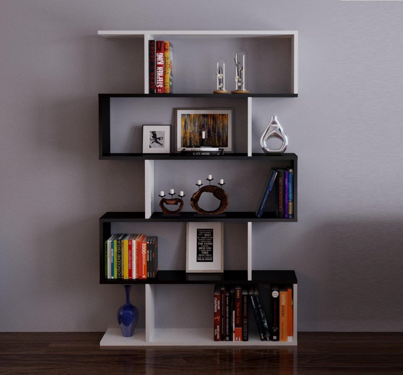 Homidea Core Libreria - Scaffale per Libri - Scaffale per Ufficio/Soggiorno dal Design Moderno (Bianco)