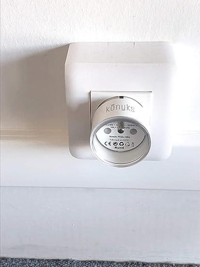 Prise EURO type Schuko connect/ée WiFi 16A compatible avec Alexa et Google Home Konyks Priska Max EU