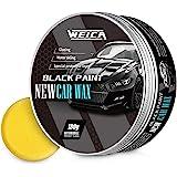 WEICA Car Wax Black Solid for Black Cars, Carnauba Car Wax Kit Cleaner, Car Waxing Scratch Resistance Auto Ceramics Coating 1
