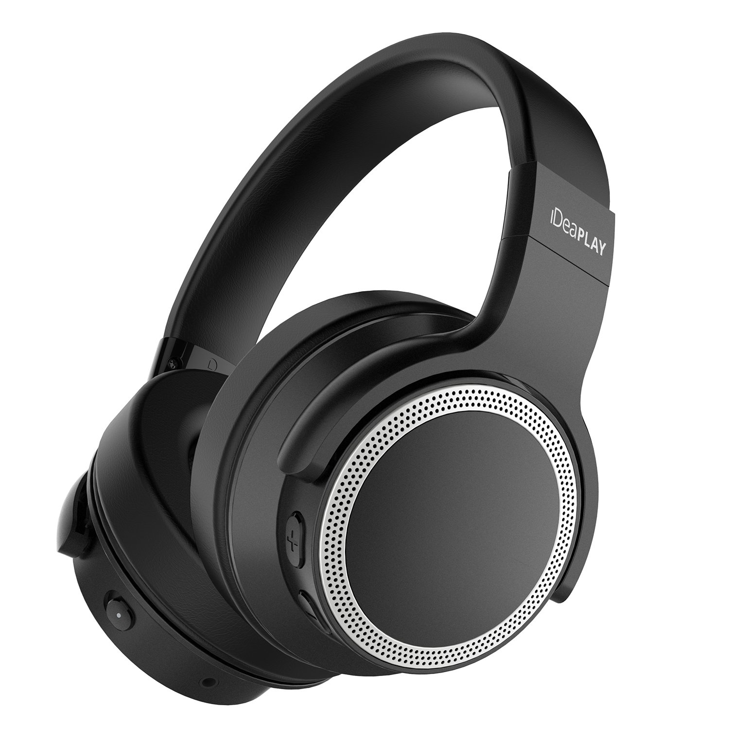 iDeaPLAY Active Noise Cancelling Headphones, Bluetooth 4.0 Wireless Over Ear Headphones with 28 Hours Playback, Foldable Headset with Built-in Microphone