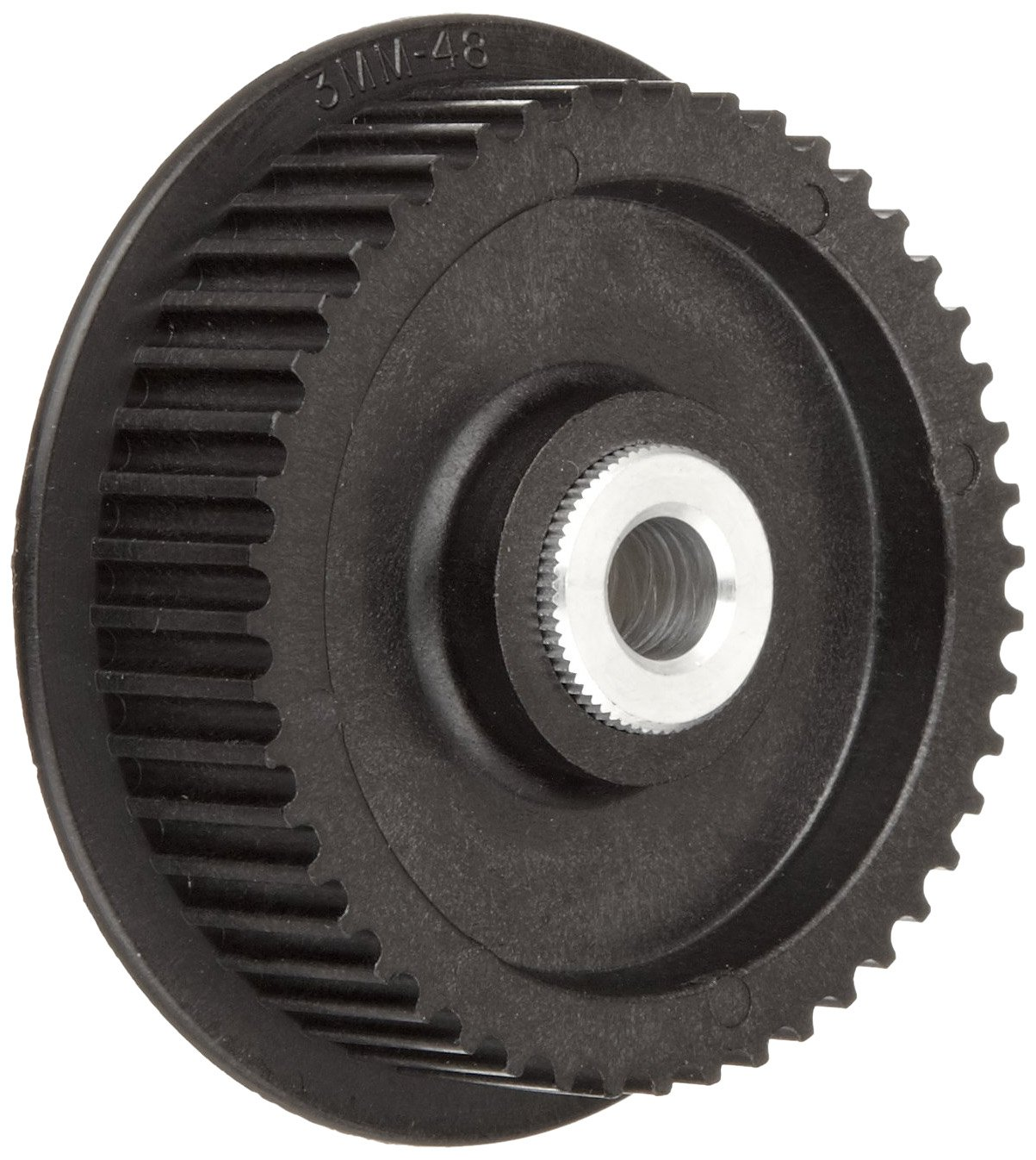 Boston Gear PLB3060SF09-5/16 Timing Pulley, 3 mm Pitch, 60 Grooves, 9mm Wide Belts, 0.313'' Bore Diameter, 2.226'' Outside Diameter, 0.813'' Overall Length, Lexan with Aluminum Insert, Single Flange