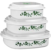 Reston Lloyd 20126 Corelle Coordinates Callaway 6-Piece Microwave Cookware Set White