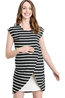 ce5dc2c104b HelloMiz Maternity Asymmetrical Overlay Nursing Breastfeeding Top at ...