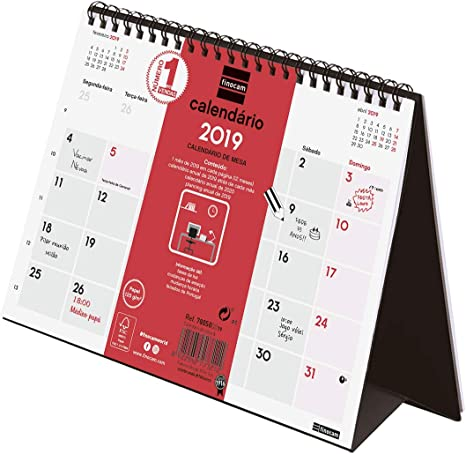 Finocam 780500019 - Calendario sobremesa 2019, Portugués: Amazon ...