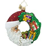 Christopher Radko Crescent Christmas Presents Little Gem Wreath Christmas Ornament