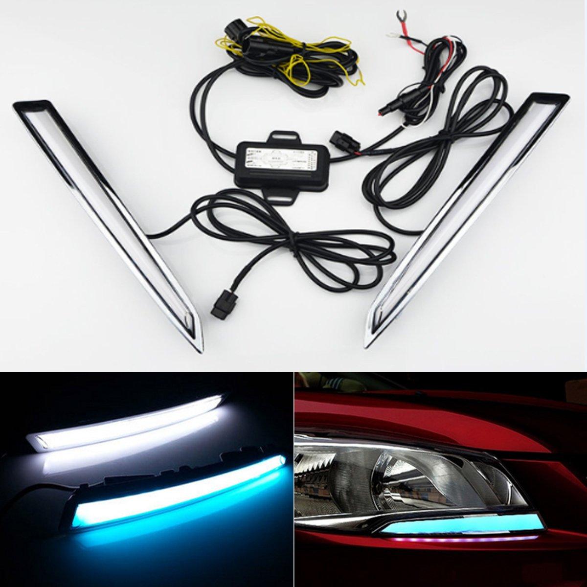 DRL For Ford Kuga Escape 2013 2014 2015 2016 LED Daytime Running Light Fog Lamp