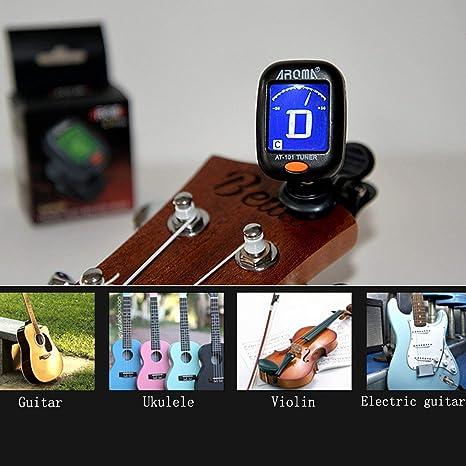 Lorenlli Fit AT-101 AROMA Tamaño pequeño Tipo de clip Afinador de instrumentos de guitarra